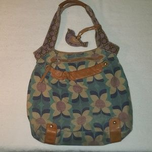 Fossil purse ( Flower Pattern)